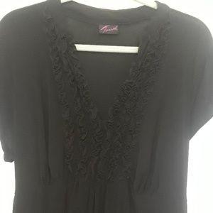 Torrid ruffle top dress. Black size 2